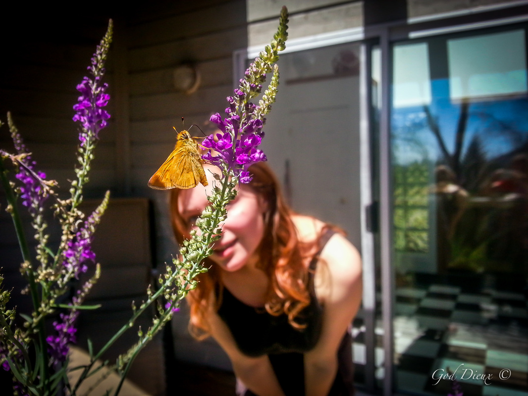 Butterfly & Woman ~ God Dieux Photography