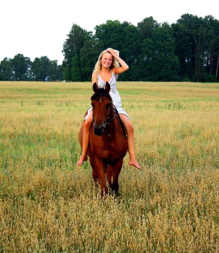 New Day ~ Girl/Young Woman on Horse ~ Spiritual Writings of God Dieux