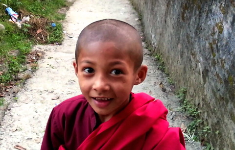 Young Buddhist Monk ~ God Dieux Spiritual Writing ~ God Dieux Photography