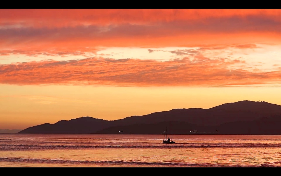 God Dieux Photography ~ Father and Son at Sunset in Small Boat
